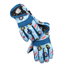 5-7y/8-10y Kids Ski Snowboard Waterproof Gloves Children Boys Girls Winter Warm Outdoor Gloves For Riding Use(China)