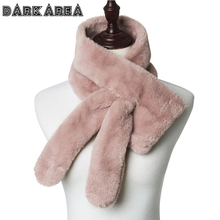 DARKAREA Lovely Children Winter Scarf Seta Rabbit Fur Children Scarf Soft Warm Winter Scarf For Girl Kid Shawls Cute Women Wrap(China)
