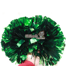 "10pcs Professional  Cheerleading pom Metallic green 1,000*3/4"" wide streamers  handle"