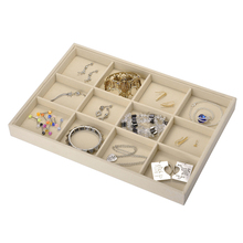 1x Retail Portable Jewelry Store Case Velvet Jewelry Display Tray Showcase Earrings Organizer Storage Container Ring Box