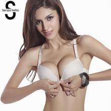 Adjustable Push Up Bras New Fashion Size Brassiere C Cup Front Closure Sexy Seamless Women Cotton Bra Underwear NY01102