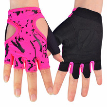Fitness Gloves for Women Female Gloves Body Building for Dumbbell Cycling Fingerless Gloves Sports Free shipping(China)