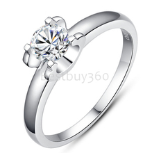 Charles&Colvard Brand new original 1 carat 925 sterling silver ring 18k white gold ring PT950 moissanite ring