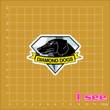 Metal Gear Solid Diamond Dog logo stickers kateboard trolley case backpack Tables book Luggage Suitcase Skateboard laptop decals