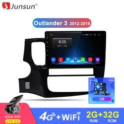 Junsun 2 г + 32 г Android 8,1 4 г автомобильный Радио мультимедийный видео плеер навигация gps для Mitsubishi Outlander 3 2012-2018 2 Din нет dvd