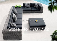 New design outdoor rattan furniture sofa set: