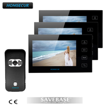 "HOMSECUR 7"" Wired Video Door Phone Audio Visual Intercom Entry System 1V3 For Villa House"