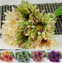 Free shipping artificial chrysanthemum flower wedding bridal bouquets oil painting daisy flower 4pcs/lot