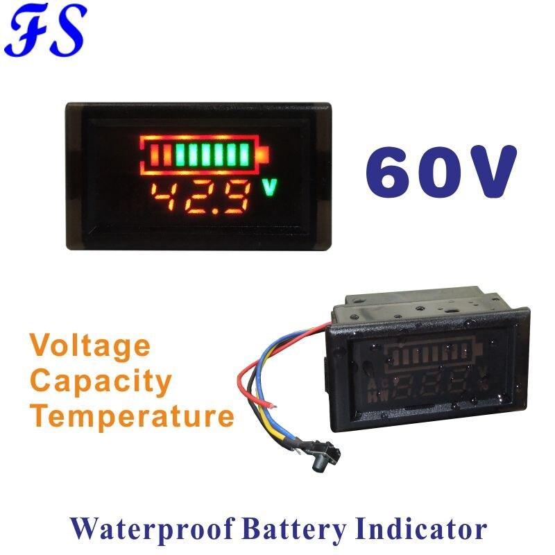Voltmetro digitale LED 12 V 24 V due tre fili Pannello Tensione Misuratore di dimensioni diverse