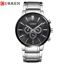 Curren relogios masculinos 2016 Luxury Brand Watch Men Fashion Watch Quartz Business Casual Wristwatch Men Watch 8001(China)