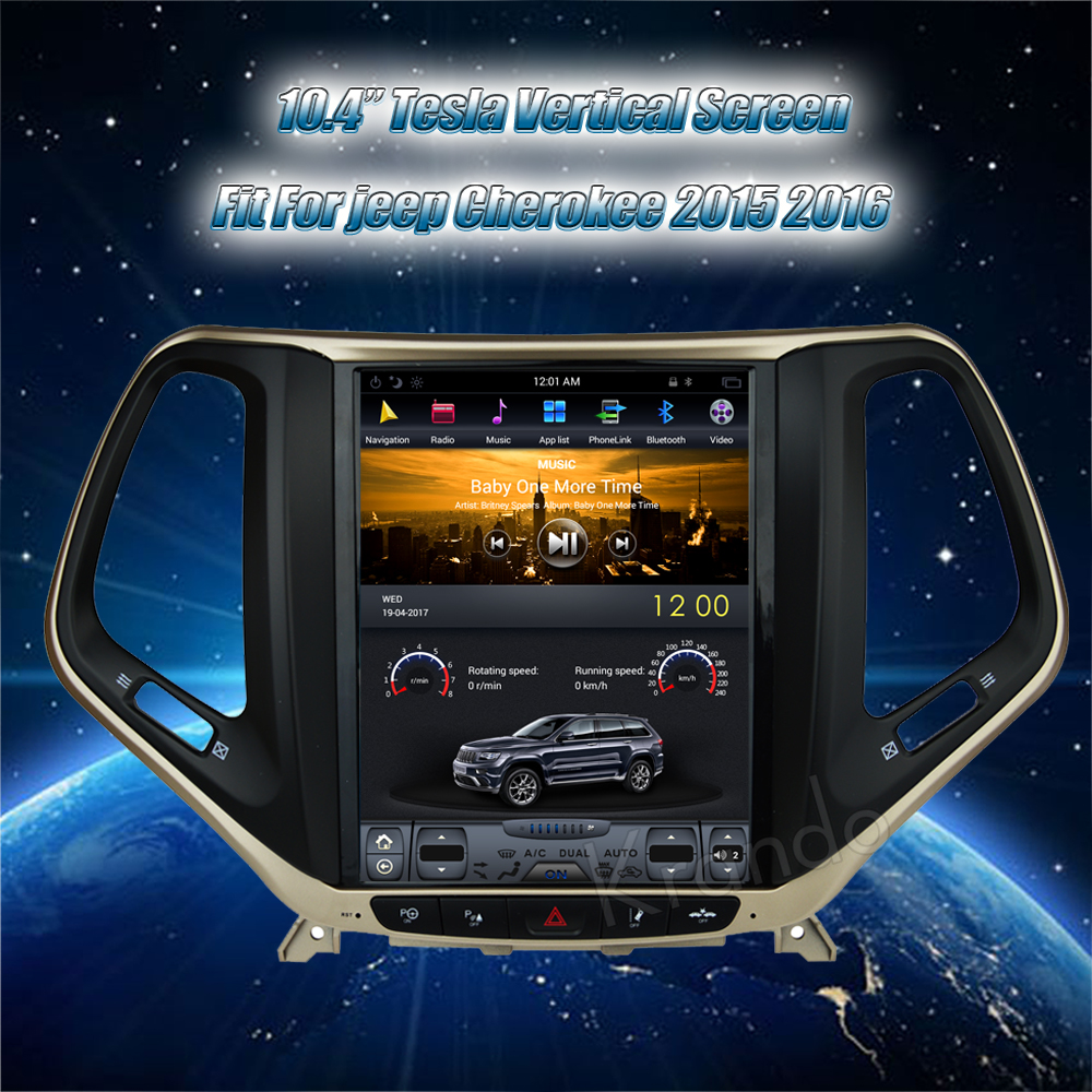 Krando Vertical screen android car radio multimedia for jeep cherokee big screen navigation with gps system (3)