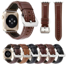 LUXURY Genuine Leather Loop for Apple Watch Band men sport 38mm 42 mm in stock
