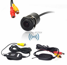 Hot, WIRELESS Car Reverse Rear View Parking Kit Camera with 2.4Ghz Transmiter and Receiver module + universal car reverse camera(China)