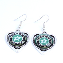 Earrings NHL Dallas Stars Charms Dangle Earrings Sport Earrings Ice Hockey Jewelry for Women Birthday Party Gift 5 pairs