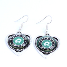 Earrings NHL Dallas Stars Charms Dangle Earrings Sport Earrings Ice Hockey Jewelry for Women Birthday Party Gift 5 pairs(China)