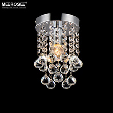 Luxury crystal chandelier lighting meerosee lighting Chrome lustre fixtures free shipping MD3038 D150mm H230mm(China)