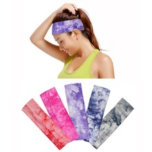 5Pcs Tie Dye Cheetah Forest Tree Zebra Cotton Stretch Headband Sports Girl Hair Band Bandage Gum Turban Bandana Hair Accessories