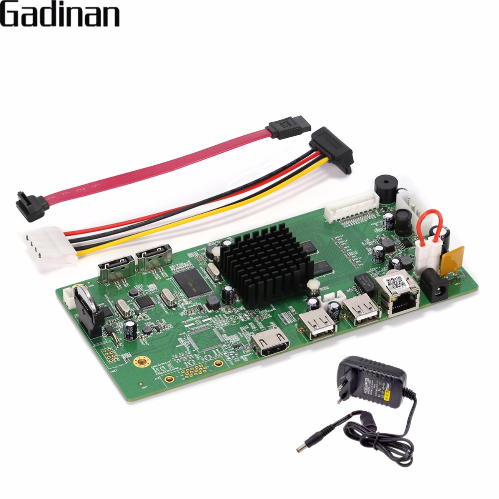 GADINAN H.265/H.264 8CH CCTV Board 8CH 4MP /4CH 5MP Hi3798M Security NVR Module XMEYE P2P Support 360 degree VR ONVIF with Power<br>
