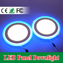 2015 New LED Ceiling Pan Lights Super Bright 9W LED Recessed Spot Light Christmas Home Decoration Lamp Blue + Warm/Cool White
