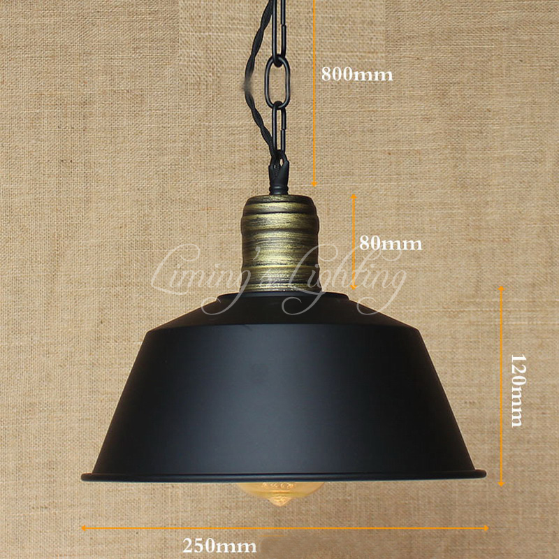 Vintage Hanging Hardware Lighting Pendant  Lights Loft Retro Industrial Metal Shade Pendant Lamp Kitchen Bar Coffee Lights<br>