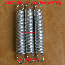 50pcs/lot  2*13*88mm 2.0 wire Carbon steel with  Zinc extension tension spring springs