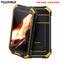 Original Runbo F1 Plus Ip67 Rugged Waterproof Phone Tough 6GB RAM Smartphone Android 7.0 Octa Core 16MP 64GB ROM 4G LTE