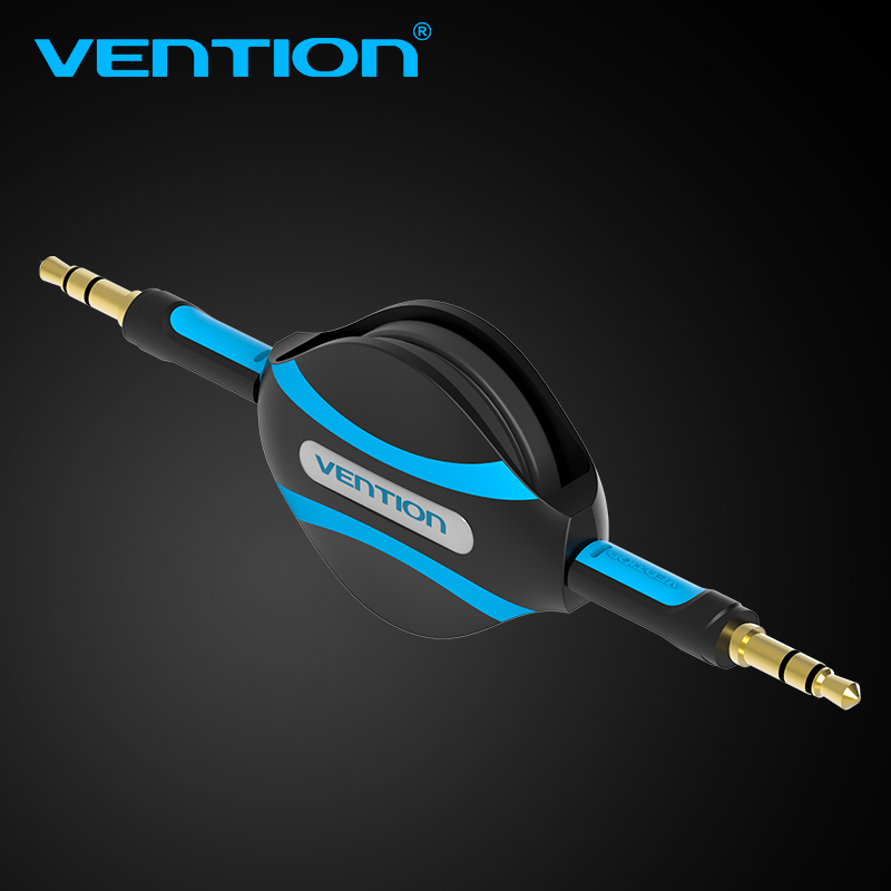 Vention 3.5mm Jack to Jack Cable Car Stereo Aux Cable 1m retractable audio cable For Car iPhone Headphone MP3 CD Player Aux Cord(China (Mainland))