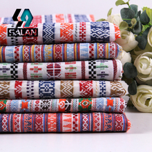 [manufacturers selling]national wind textile geometric striped imitation linen fabric cloth dress for men and women-005(China)