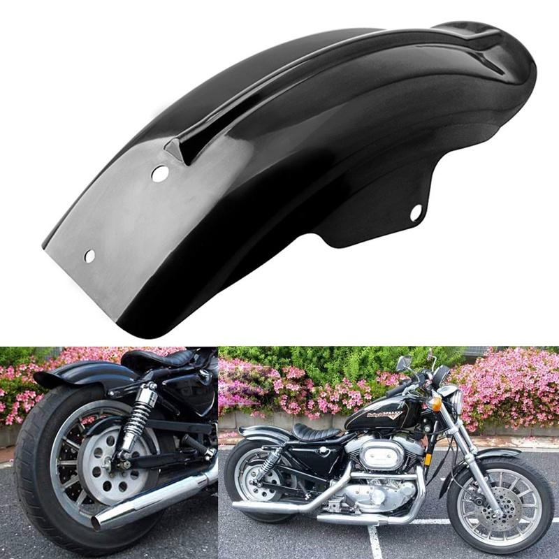 Guardabarros Trasero Moto para Harley Sportster Bobber Chopper Cafe Racer Negro