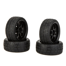 GoolRC 4Pcs High Performance 1/10 Rally Car Wheel Rim and Tire for Traxxas HSP Tamiya HPI Kyosho RC Car Model(China)
