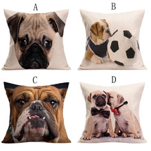2017 Hot Selling Vintage Cute Dog Pillow Case Sofa Waist Throw Cushion Cover Home Decor Best Price May30(China)