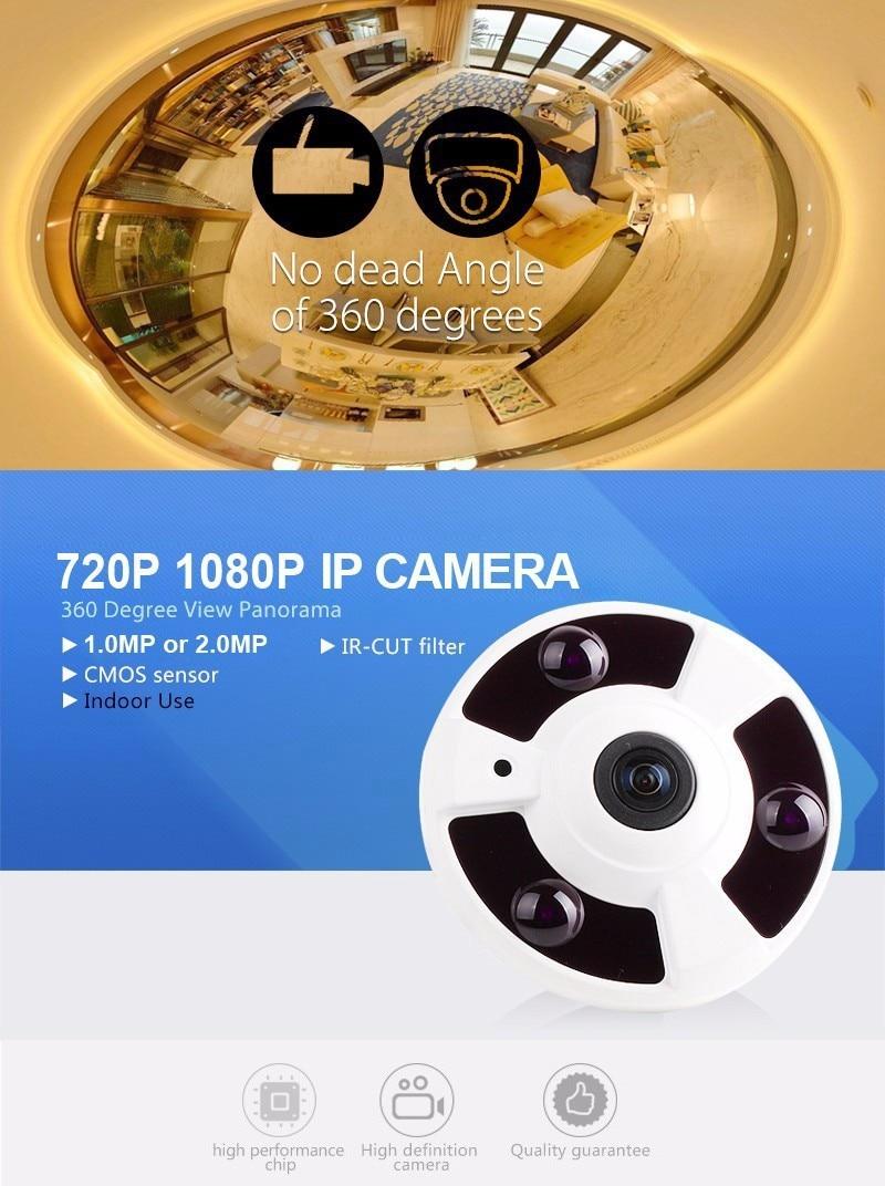 5MP Lens IR Night Vision HD Security CCTV Camera 1.0/1.3/2.0MP 360 Degree View P2P XMEyeAHD Camera<br>