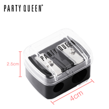 Party Queen High Quality Double Holes Sharpener Beauty Makeup Tool Eyeliner Pencil Lipliner Pencil Sharpener Useful Cosmetic
