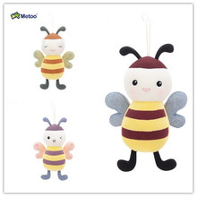 Orignal Metoo cute bee doll creative soft plush toys doll lovely cute bunny honeybee plush toy for kids(China)