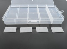 4PCS 15 Slot Clear Electronic Components Storage Organizer Assortment Box Plastic Case Convenience Store Small Items(China)