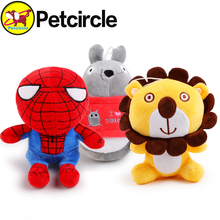 2017 petcircle new arrivals pet dog cat toys lion totoro spiderman plush dog toy dog toys squeakers for chihuahua freeshipping(China)