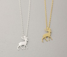 New Arrival Hot Origami Antler Deer Necklace in Gold and Silver Bridesmaid Necklace  EY-N185