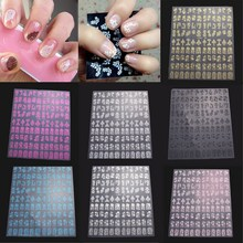 108pcs Fashion Flower Nail Art Sticker DIY Fingernail Design Drawing Nail Stickers Manicure Tips Decorations