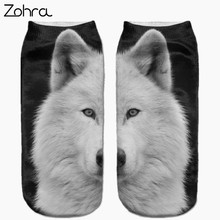 Zohra New arrival Snow White Samoyed Full Print Sock Women Men Low Cut Ankle Sock Cotton Hosiery Slippers Casual Socks