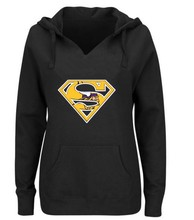Women's Winter Vikings Fans Hoodies, New Design Minnesota Sweatshirts Superman S Logo Picture Print Fashion Tops V-neck Pullover(China)
