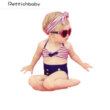 Hot Sale Cute Baby Girls Swimsuit Rain Bow Fringe String Bikini Swimwear Bathing Suit for Kid High Waist Swimwear