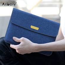 "Axbety Fashion Jeans Style Case For iPad Pro Case Soft Slim Fabric Sleeve Cover For iPad 2 4 Air 2 9.7"" Full Protect Carry Bag(China)"