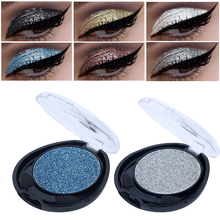 New Smokey Glitter Powder Eyeshadow Single Palette Make Up Shining Shimmer Waterproof Blue White Color Eye Shadow Brand Cosmetic(China)