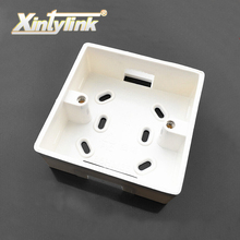 xintylink rj45 jack Face Plate Back Box rj11 faceplate box wall socket box External installatio junction box flame retardant pvc(China)