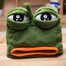Doll Plush Toy Funny Pelucia Toys Sad Frog Green for Girlfriend Gift 22*21CM Safety Eyes