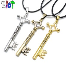 4 types Anime Attack On Titan Eren Figure logo Link Chain choker vintage Necklace Metal Pendant Cosplay Jewelry Toy fans Gift