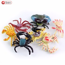 Wiben Sea Life Crab Animal Model PVC Action & Toy Figures  Educational Christmas Gift for Kids