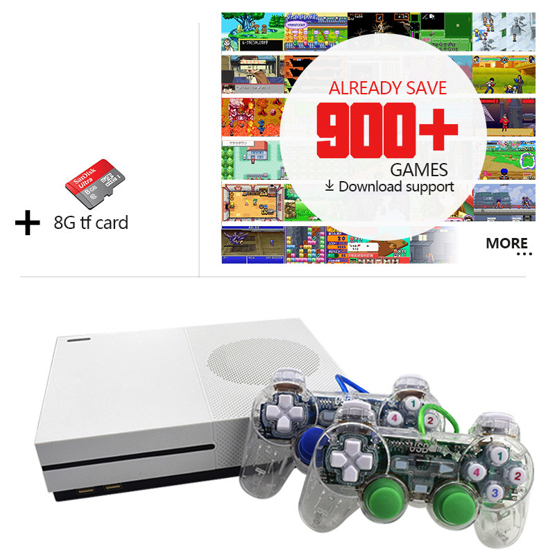 Data-Frog-2017-New-4GB-Video-Game-Console-TV-Consoles-with-600-Games-Transparent-Gamepad-Family