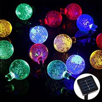 4.8M 20LEDs Crystal Ball String Waterproof Outdoor solar led string Holiday String fairy light Garden Decoration Solar Lamp