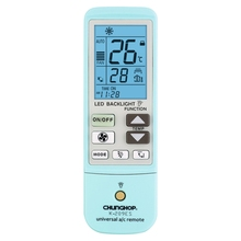 CHUNGHOP K-209ES Universal Air Conditioner Remote Control, Support Thermometer Function (Blue White)